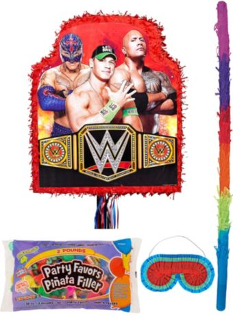 Red WWE Pinata Kit with Candy & Favors