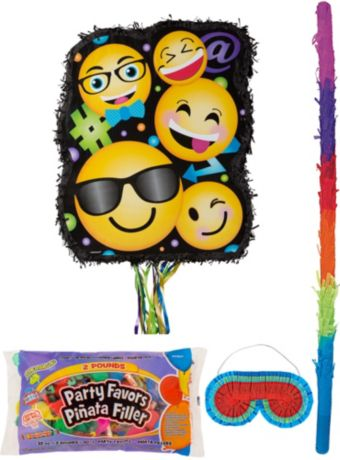 Smiley Pinata Kit with Candy & Favors