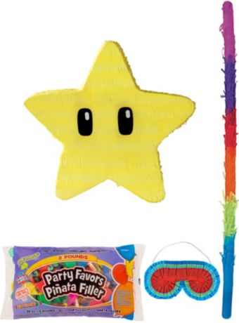 Star Pinata Kit with Candy & Favors - Super Mario