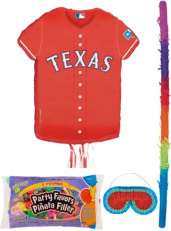 Texas Rangers Pinata Kit with Candy & Favors