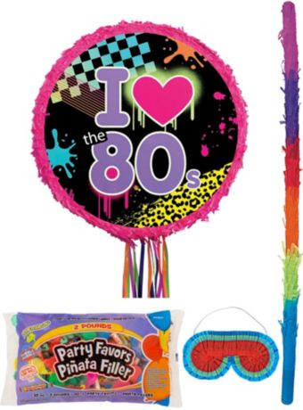 Totally 80s Pinata Kit with Candy & Favors