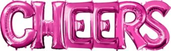 Giant Pink Cheers Letter Balloon Kit 7pc