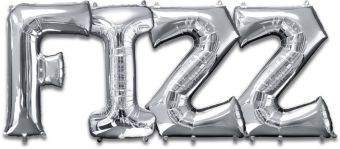 Giant Silver Fizz Letter Balloon Kit 5pc