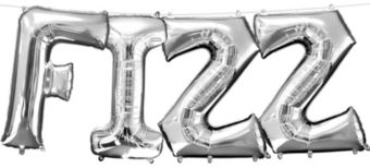 Air-Filled Silver Fizz Letter Balloon Kit