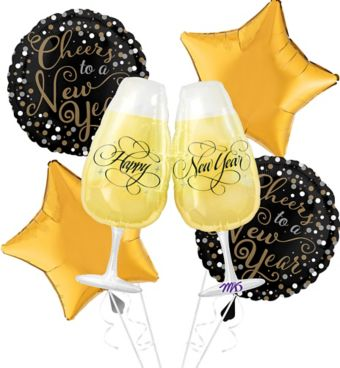 Bubbly Celebration Cheers To A New Year Balloon Kit