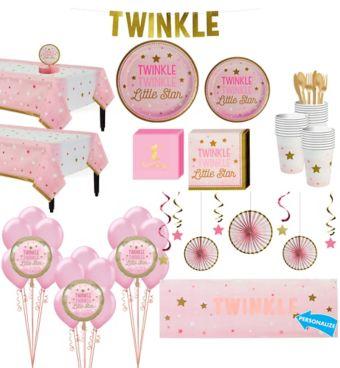 Pink Twinkle Twinkle Deluxe 32CT Tableware Kit