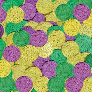 Mardi Gras Coins 100ct