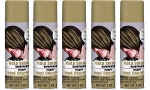 Gold Hair Spray 5ct