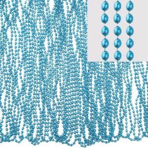 Metallic Light Blue Bead Necklaces 100ct