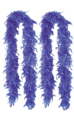 Blue Feather Boas 2ct