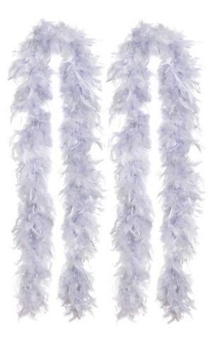 Silver Feather Boas 2ct