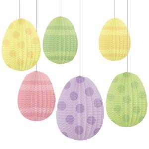 Honeycomb Easter Egg Decorations 6ct