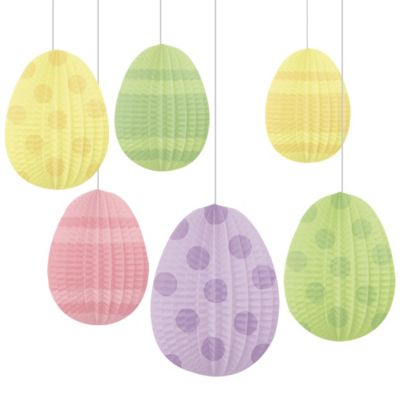 Honeycomb Easter Egg Decorations 6ct