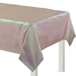 Pink Opalescent Plastic Table Cover