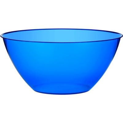 Royal Blue Plastic Swirl Bowl