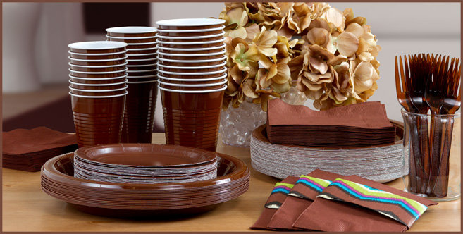 Solid Chocolate Brown Tableware #3