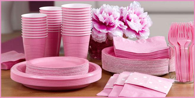 Solid Pink Tableware #3