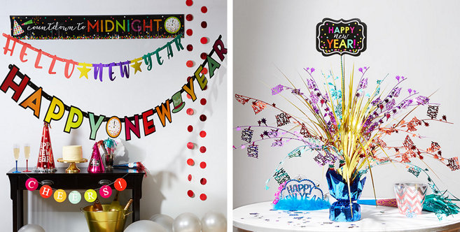 Colorful New Year's Eve Decorations - Party City