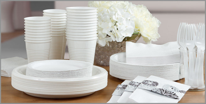 solid white tableware #3