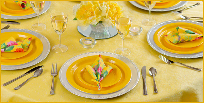 solid yellow tableware #2