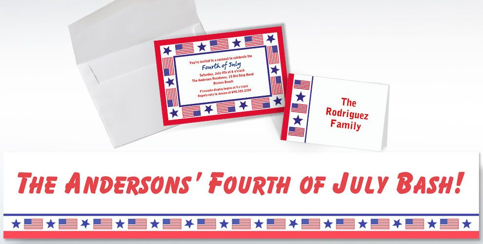 Custom Patriotic Invitations & Thank You Notes - Party City