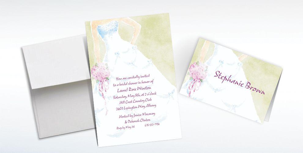 Custom Soft Fashion Gown Wedding Invitations Amp Thank You Notes