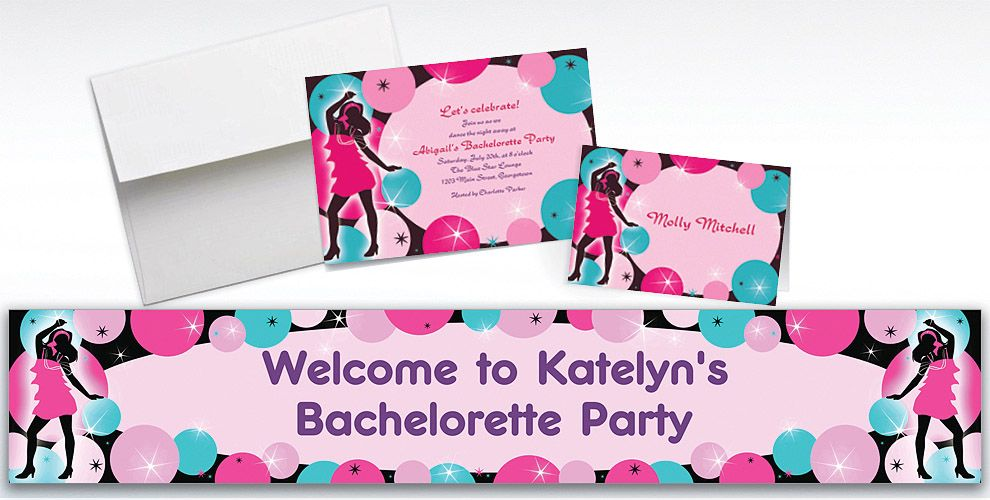 Custom Girls Night Out Party Invitations Thank You Notes – When to Send out Bachelorette Party Invitations
