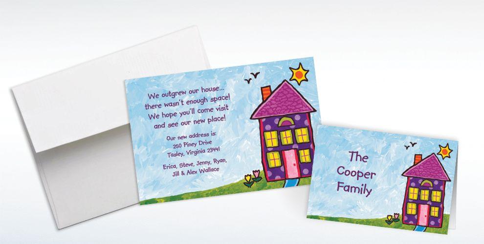 Thank You House: Custom House Painting Housewarming Invitations & Thank You