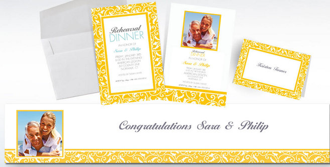 Yellow Wedding Custom Invitations and Banners #2