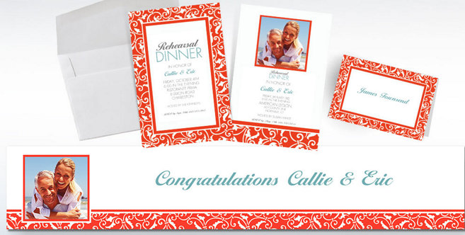 Orange Wedding Custom Invitations and Banners #2