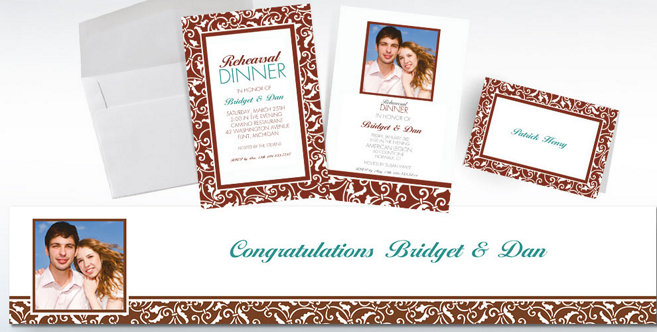 Brown Wedding Custom Invitations and Banners #2
