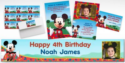 Custom Mickey Mouse Invitations Thank You Notes Party City