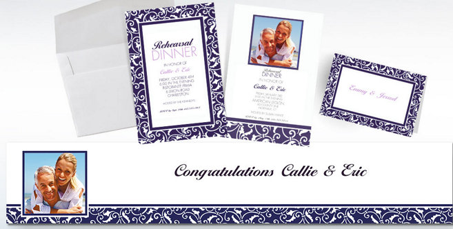 Royal Blue Wedding Custom Invitations and Banners #2
