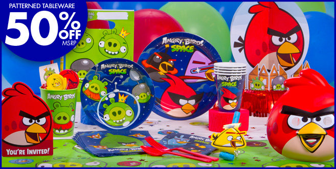 Space ship party favors pics about space for Angry birds party decoration ideas