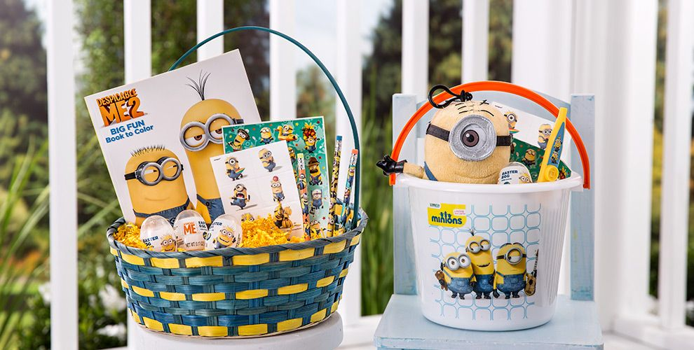 Character baskets build your own basket party city build your own minions easter basket negle Images