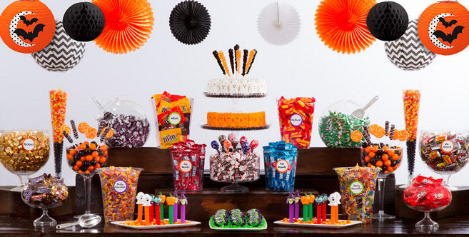 halloween candy buffet supplies halloween candy containers party city. Black Bedroom Furniture Sets. Home Design Ideas