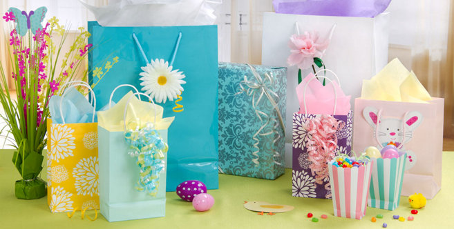 Easter gift bags wrap party city negle Images