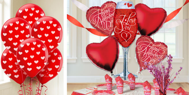 Valentine 39 s day balloons party city canada for Balloon decoration for valentines day