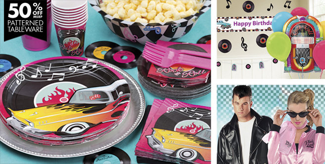 Classic 50s theme party supplies party city for 50s party decoration