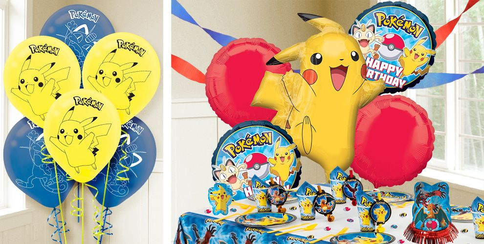 Pokemon balloons party city for Balloon decoration for birthday party in chennai