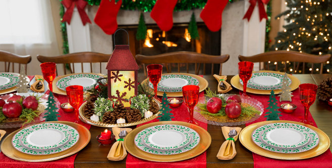 Premium Christmas Tableware Holiday Dinnerware