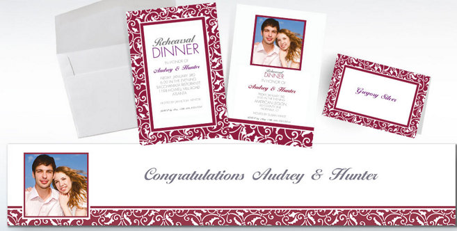 Berry Wedding Custom Invitations and Banners #2