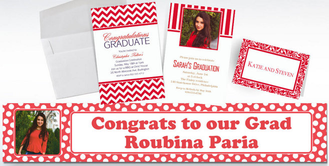 Red Custom Invitations and Banners #2