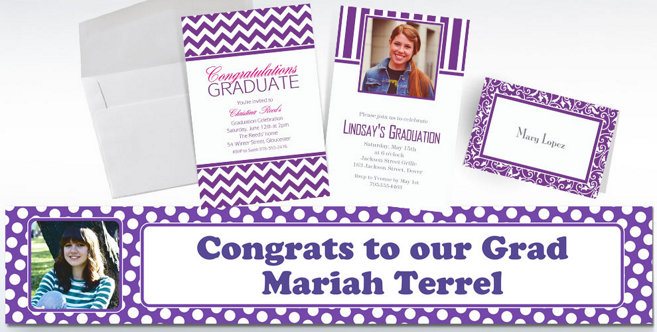 Purple Custom Invitations and Banners #2