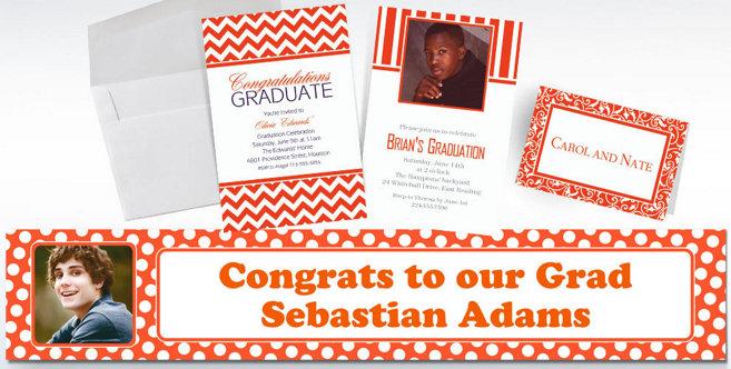 Orange Custom Invitations and Banners #2