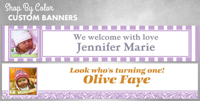 Lavender Custom Invitations and Banners #2