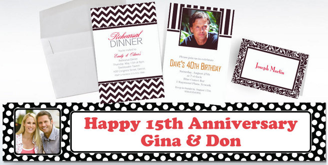 Black Custom Invitations and Banners #2