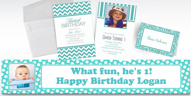 Robins Egg Custom Invitations and Banners #2