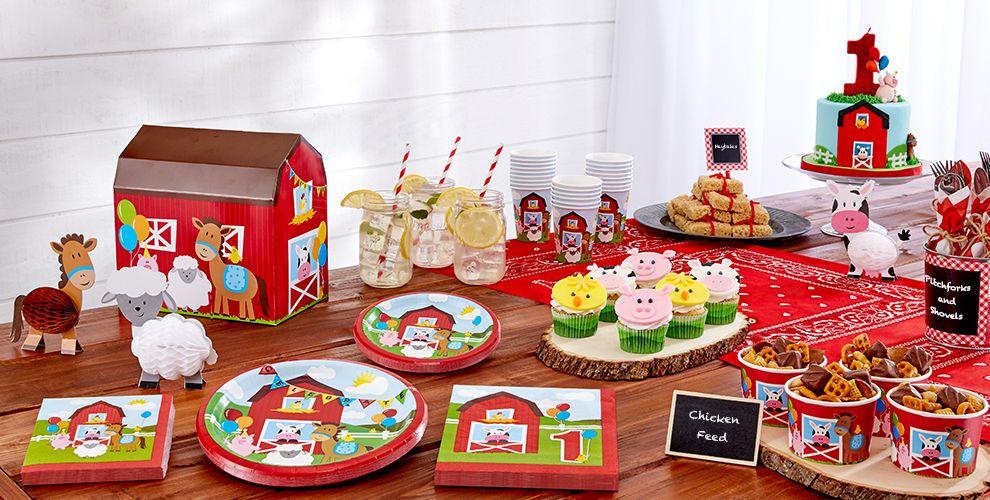 Farmhouse Fun 1st Birthday Party Supplies