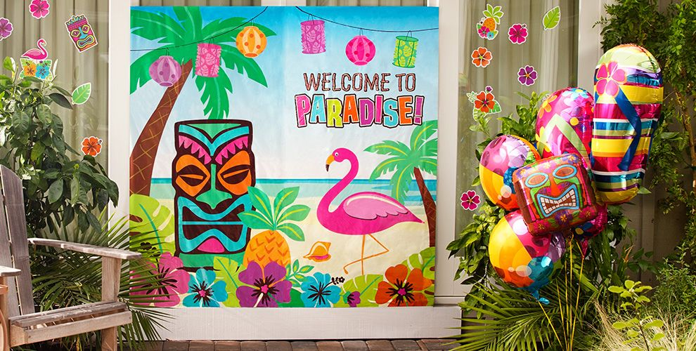 Wall Decoration For Event : Summer wall decorations party city